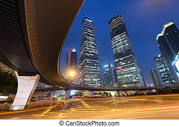 Lujiazui district at Shanghai - China