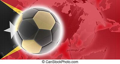 Flag of Timor-Leste soccer - Flag of Timor-Leste, national...
