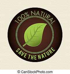 Save nature ecology label