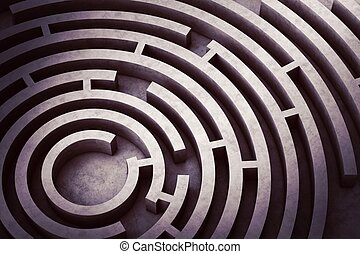 Circular maze - Image from above of a circular maze