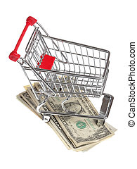 Shopping budget - One little shopping cart on US dollar...