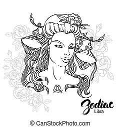 Zodiac. Vector Libra - Zodiac. Vector illustration of Libra...