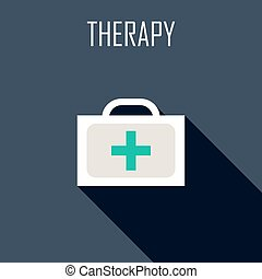Therapy Flat icon Vector illustration