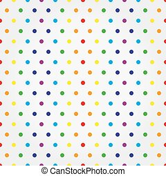 Seamless vector pattern with colorful polka dots.