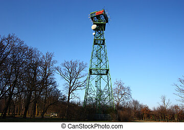 Radar Tower I - Radar tower in wooden installation