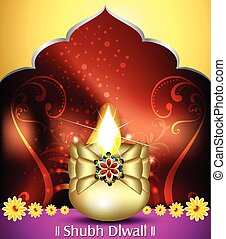 happy diwali celebration background with deepak Convertedeps...