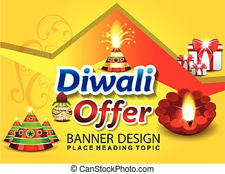 happy diwali sale background vector illustration