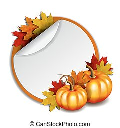 Thanksgiving card with pumpkins - Thanksgiving banner,...