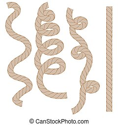 Rope Set Isoated - Rope Set Isolated on White Background....