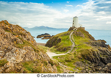 Llanddwyn Island - Anglesey - Lightouse on a hill...