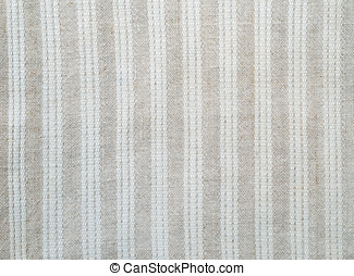 Background of the homespun cloth with white stripes - Linen...
