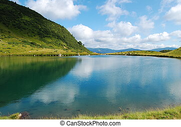 Quiet lake - A lake is in Carpathians