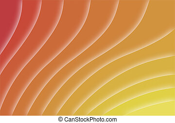 orange background with modern digital waveforms