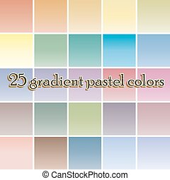 Twenty five blurred gradient background pastel colors -...