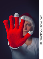 Stop he Christmas - Stop the Christmas, beautiful woman in...