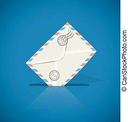 Postal envelope with letter