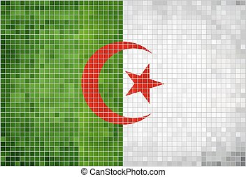 Flag of Algeriaeps - Flag of Algeria, Abstract Mosaic Flag...