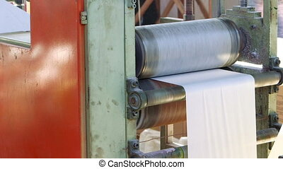 Automated machine view in paper recycling factory