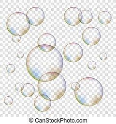 Set of Colorful Bubbles