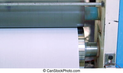 Automated machine in paper recyclin