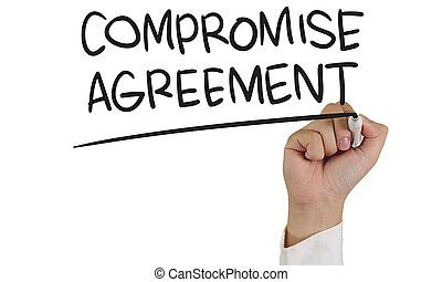 Compromise Agreement Typography Concept - Business concept...