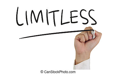 Limitless Typography Concept - Business concept image of a...