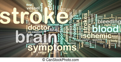 Stroke wordcloud glowing - Word cloud tags concept...