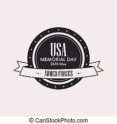 Memorial day - Isolated label with text for memorial day