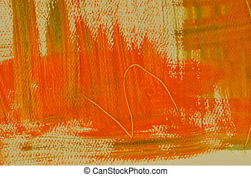 Painted multi-layered orange color - Hand painted...