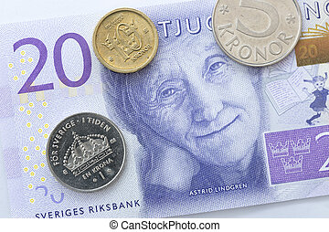Swedish Currency Close Up New note introduecd in 2015