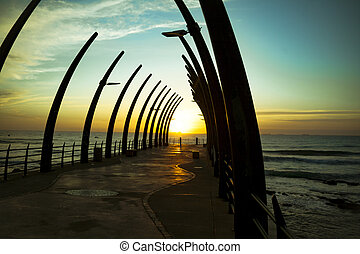 Durban Pier Umhlanga In Sunrise - The Umhlanga Pier In...