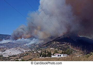 Competa fire - Andalucia in Spain: the fire of June 29th,...