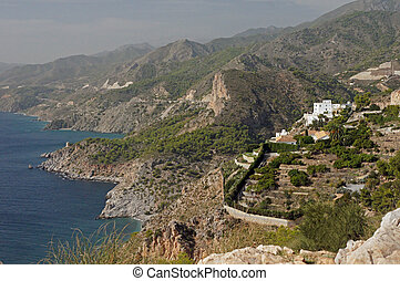 Costa Tropica coastline - Andalucia in Spain: the coastline...