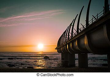 Durban Pier Umhlanga in Sunrise - Durban Pier in Umhlanga...