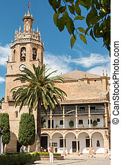 Ronda church - Andalucia in Spain: the Iglesia de Santa...
