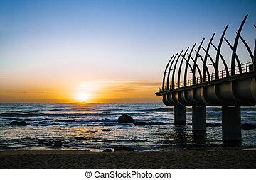 Umhlanga Durban Pier in the Sunrise - Durban Umhlanga pier...