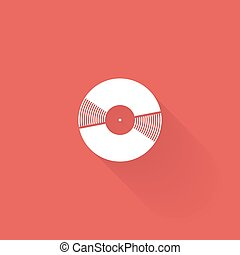 Music icon - Isolated music icon on a colored background