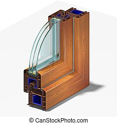 Slice window profile. - Slice window profile from PVC...
