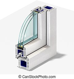 Slice window profile 1. - Slice window profile from PVC...