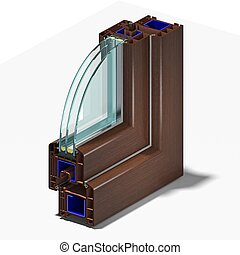 Slice window profile 2. - Slice window profile from PVC...