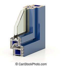 Slice window profile 3. - Slice window profile from PVC...