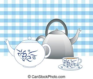old fashioned kettle - a vector illustration in eps 10...