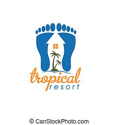 tropical resort vector design template