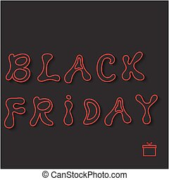Black friday sale. Vector illustration .