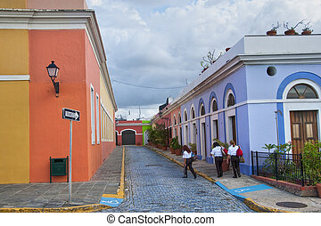 San Juan, Puerto Rico - Detail of San Juan, the Capital of...
