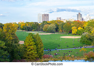 Views from the Belvedere castle - The great lawn seen from...