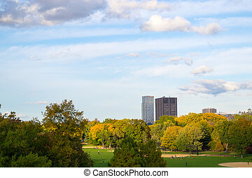 Mount Sinain from Central park - The great lawn seen from...