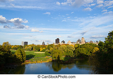 Atumun colors from the Belvedere castle - The great lawn...