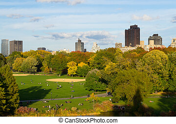 Great lawn during the fall season - The great lawn seen from...