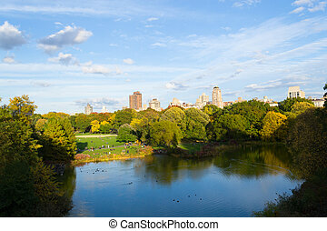 Turtle pond from the Belvedere castle - The great lawn seen...